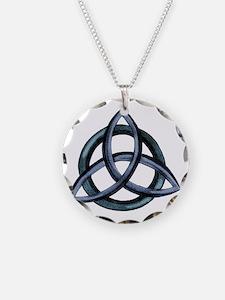 Triquetra Blue Necklace