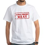 USDA Prime Meat White T-Shirt