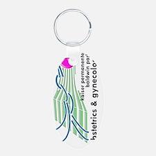 BPK OBGYN BIg green 2 verti Keychains