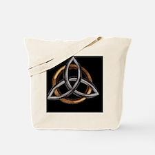 Triquetra Brown/Silver Tote Bag