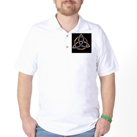 Triquetra Brown/Silver Golf Shirt