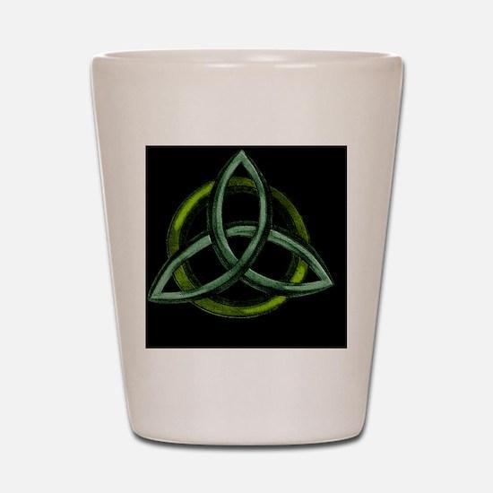 Triquetra Green Shot Glass