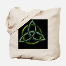 Triquetra Green Tote Bag