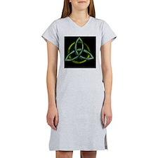 Triquetra Green Women's Nightshirt