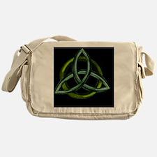 Triquetra Green Messenger Bag