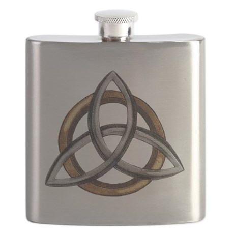 Triquetra Brown/Silver Flask