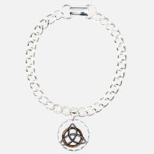 Triquetra Brown/Silver Bracelet