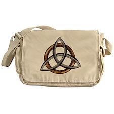 Triquetra Brown/Silver Messenger Bag