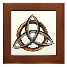 Triquetra Brown/Silver Framed Tile