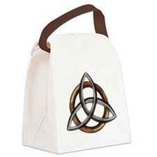 Triquetra Brown/Silver Canvas Lunch Bag