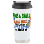 Frogs & Snails Stainless Steel Travel Mug