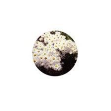 white and yellow flowers Mini Button