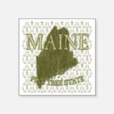 "Pine Tree State Rev 2 Square Sticker 3"" x 3"""
