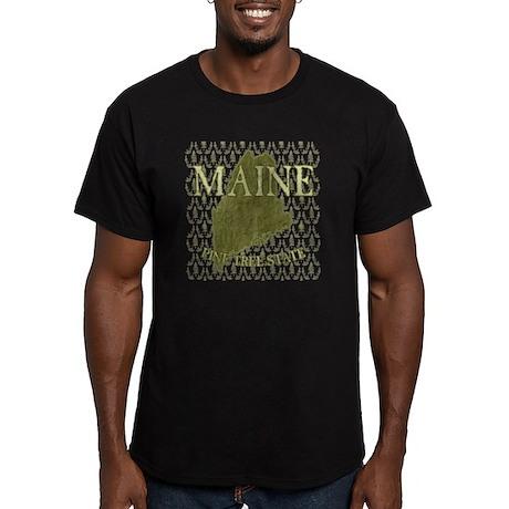 Pine Tree State Rev 2 Men's Fitted T-Shirt (dark)