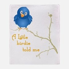 birdie_shirt_vertical copy Throw Blanket