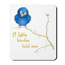 birdie_shirt_vertical copy Mousepad