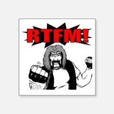 "rtfm Square Sticker 3"" x 3"""