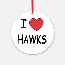 HAWKS Round Ornament
