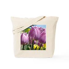 Tulip Garden 83M purple lavender Tulips F Tote Bag