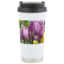 Tulip Garden 83M purple lavende Travel Mug