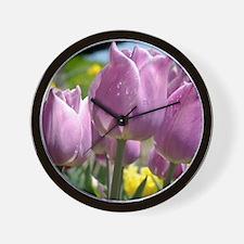 Tulip Garden 83M purple lavender Tulips Wall Clock