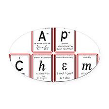 apchem symbols Oval Car Magnet
