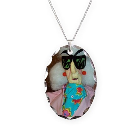 Maxine Necklace Oval Charm