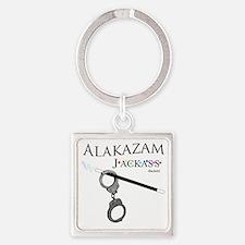 Alakazam Wht Square Keychain