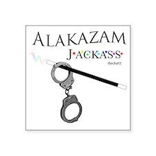 """Alakazam Wht Square Sticker 3"""" x 3"""""""