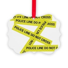 Police Line Do Not Cross Ornament