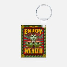 ENJOY_WEALTH_459_ipad_case Keychains