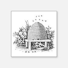 "beehive.gif Square Sticker 3"" x 3"""