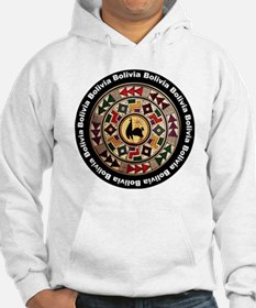 bolivia-llama-andes-round Hoodie