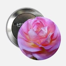 """pink rose flower Note Card 2.25"""" Button"""