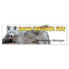 Gray Wolf Bumper Bumper Sticker