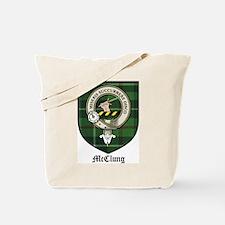 McClung Clan Crest Tartan Tote Bag