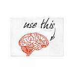 Use brain 5'x7'Area Rug