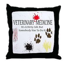 veterinariandirtyjobuse Throw Pillow
