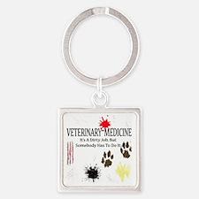 veterinariandirtyjobuse Square Keychain