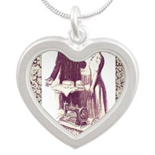Baker and Dressmaker square Silver Heart Necklace