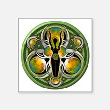 """Goddess of the Green Moon Square Sticker 3"""" x 3"""""""