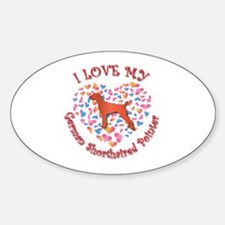 Love Pointer Oval Decal