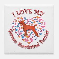Love Pointer Tile Coaster