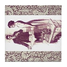 Baker and Dressmaker with Lace Tile Coaster