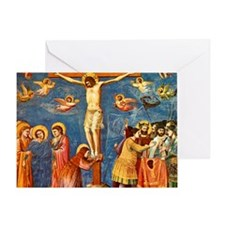 Giotto Crucifixion.No Text Greeting Card
