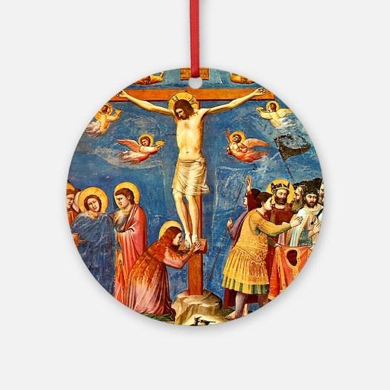 Giotto Crucifixion.No Text Round Ornament
