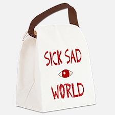 SICK SAD WORLD Canvas Lunch Bag