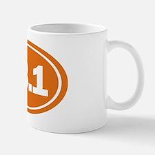 13.1 Oval burnt orange Mug