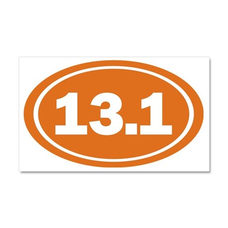 13.1 Oval burnt orange Car Magnet 20 x 12