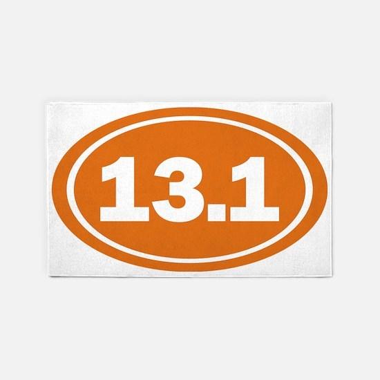 13.1 Oval burnt orange 3'x5' Area Rug